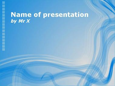 Blue lines waving Powerpoint Template image