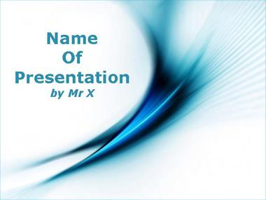 Blue Flames Powerpoint Template image