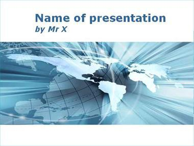 Flash Earth Powerpoint Template image