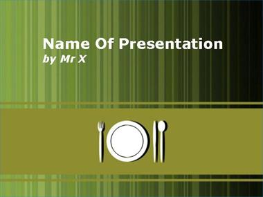 Lunch Table Powerpoint Template image