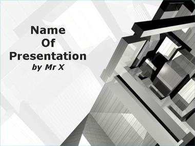 Buildings and architecture powerpoint templates cubic construction powerpoint template toneelgroepblik Image collections
