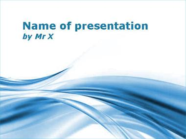 The Blue Twist Powerpoint Template image