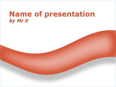 The Red Shadow Curve Powerpoint Template image