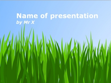 Peaceful Green Field Powerpoint Template image