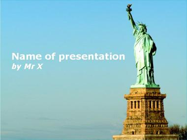 Statue of Liberty Powerpoint Template image
