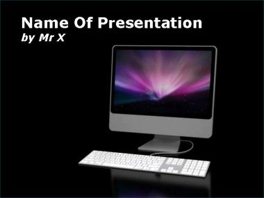 White Computer Screen Powerpoint Template image