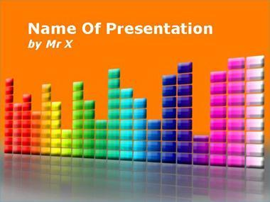Colorful Music Equalizer Powerpoint Template image