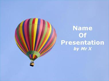 Colorful Balloon Powerpoint Template image
