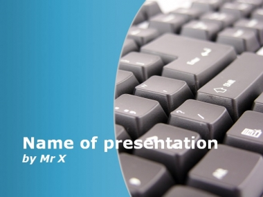 Computer Keyboard Blue Version Powerpoint Template image