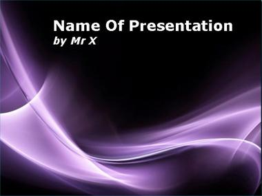 Shining Purple Curves Powerpoint Template image