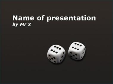 White Dice Powerpoint Template image