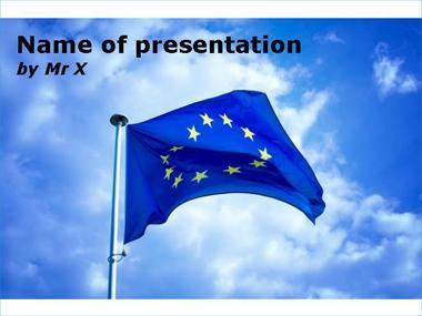 The Europe Flag Powerpoint Template