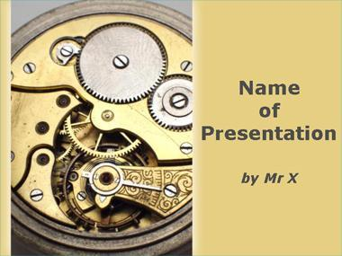 Clock Mechanism Powerpoint Template image