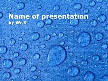 Water Drops Powerpoint Template image