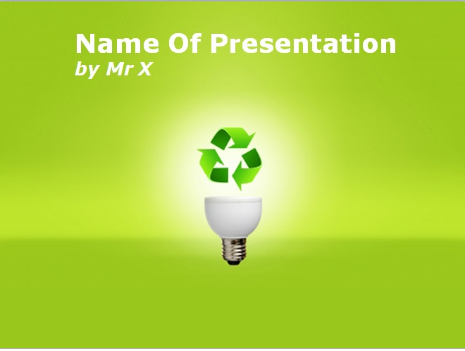 Ecology And Recycling Powerpoint Template