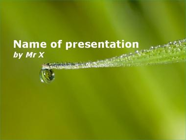 A falling water drop Powerpoint Template image