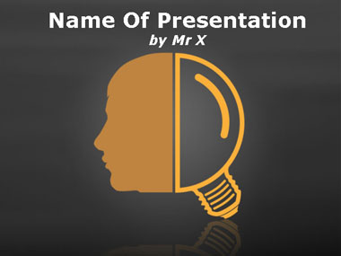 Light Bulb Head Powerpoint Template image