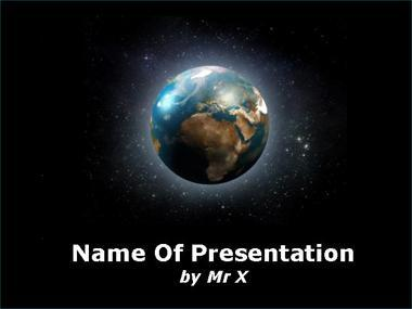Glowing Earth in Space Powerpoint Template image