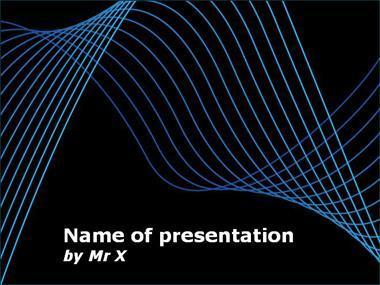 Blue Curves on Blackboard Powerpoint Template image