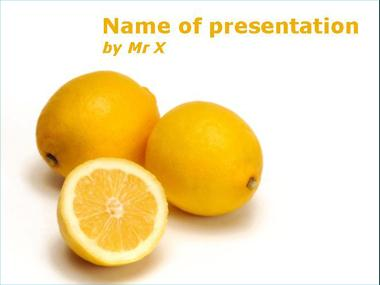 Yellow lemon Powerpoint Template image