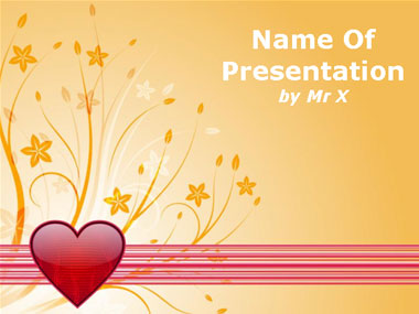 Floral Love Powerpoint Template image