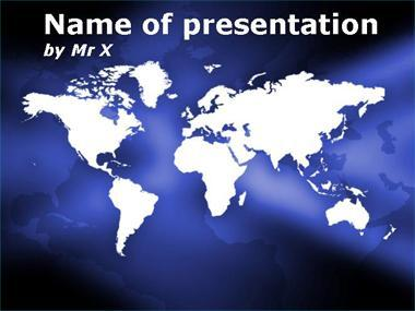 Purple Shining Worldmap Powerpoint Template image