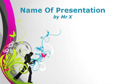 music powerpoint templates, Modern powerpoint