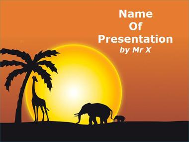 Sunset in Africa Powerpoint Template image