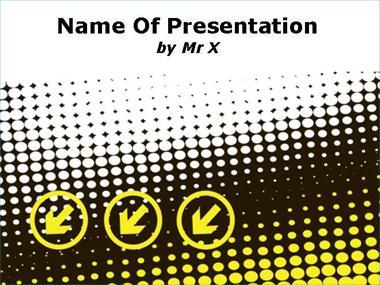 Yellow Arrows Powerpoint Template image