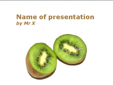 King Kiwi Powerpoint Template