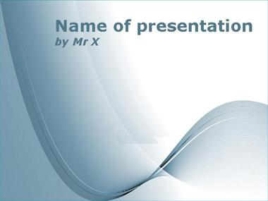 Blue Curves on Blankboard Powerpoint Template image