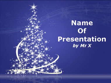 Light Christmas Tree Powerpoint Template