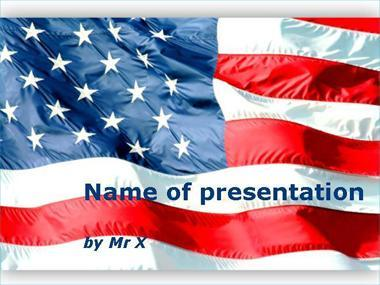 Waving American Flag Powerpoint Template image
