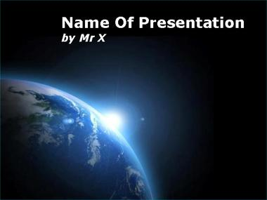 Space Light Over Earth Powerpoint Template image