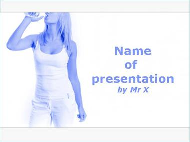 Woman drinking water Powerpoint Template image