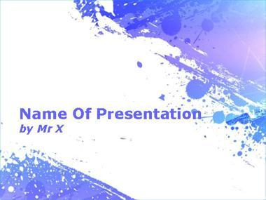 purple paint splash powerpoint template