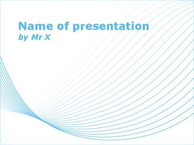 Blue Curves on Blankboard Powerpoint Template