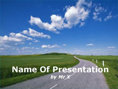A Road in the countryside Powerpoint Template image