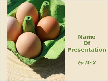 Four eggs pack Powerpoint Template
