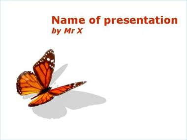 Insect powerpoint templates orange butterfly on a blankboard powerpoint template toneelgroepblik Images