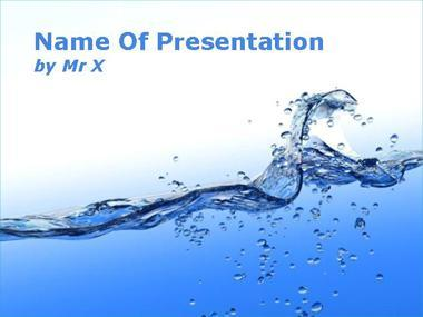 Blue Water Flow Powerpoint Template image