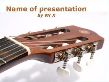 Acoustic guitar Powerpoint Template