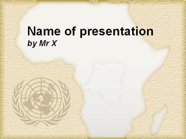 Africa and UN Brown Version Powerpoint Presentation Template