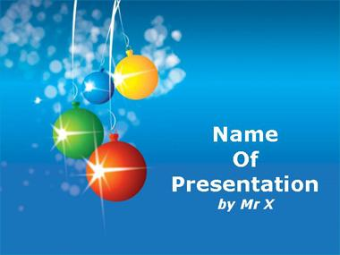 Christmas Balls Powerpoint Presentation Template