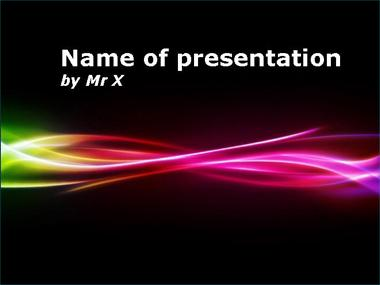 Colorful multi curves Powerpoint Presentation Template