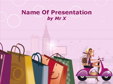 Fashion Shopping Girl Powerpoint Presentation Template