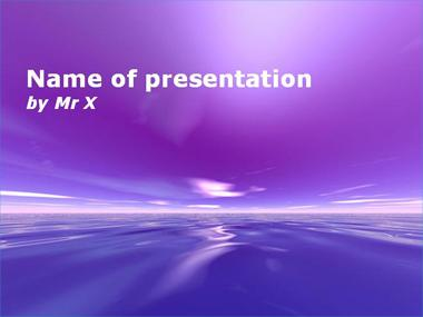 Purple Dream Powerpoint Presentation Template