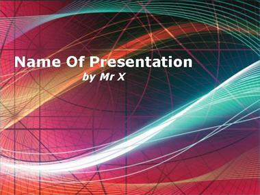 Rainbow Curves Powerpoint Presentation Template