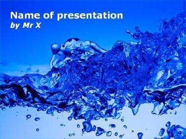 Splash Water Powerpoint Presentation Template