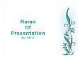 White Floral Background Powerpoint Template